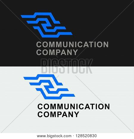 Business Icon - Vector logo cooperation concept design template. Abstract emblem for communications company, Internet communications, corporate management