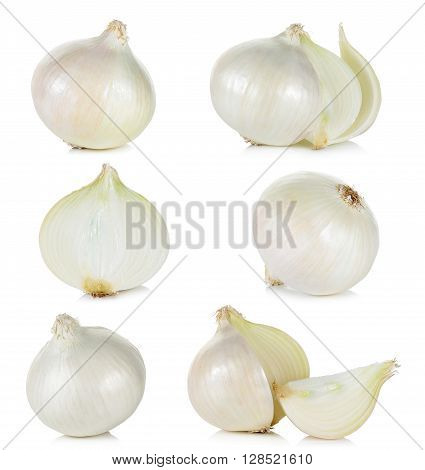 White Onion Isolated On The White Background