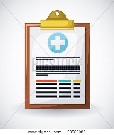 medical prescription design, vector illustration eps10 graphic