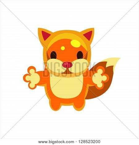 Fox Jelly Toy Simple Flat Vector Design In Colorful Childish Style Isolated Icon