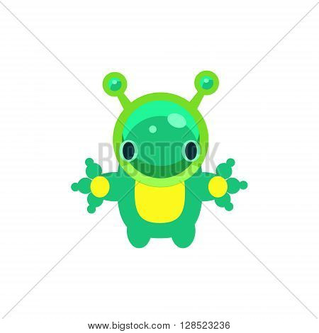 Alien Jelly Toy Simple Flat Vector Design In Colorful Childish Style Isolated Icon