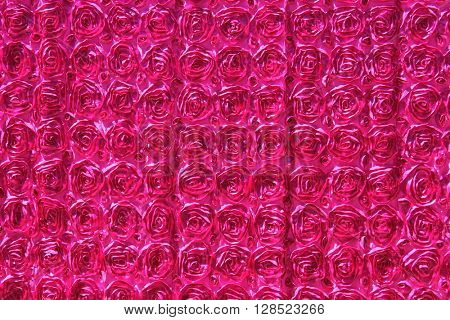 Fuchsia colored rose design photo booth background Curtain