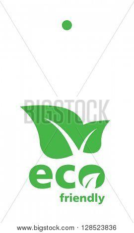 Green Eco label tag