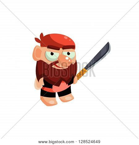 Buccaneer Colorful Vector Icon In Childish Toy Style Design Isolated On White Background
