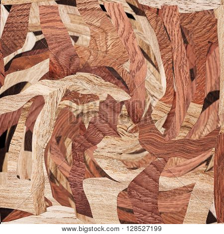 Wooden decorative pattern. Abstract wooden parquet background