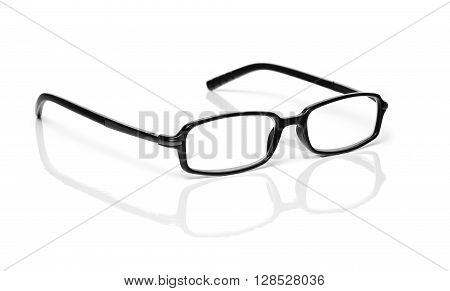 Black Glasses isolated on a white background