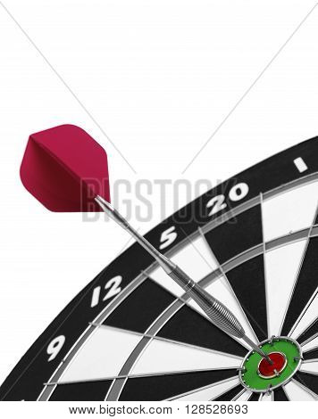 Dartboard dart isolated on a white background