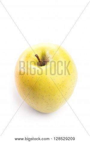 Fresh And Green Organic Apple On White