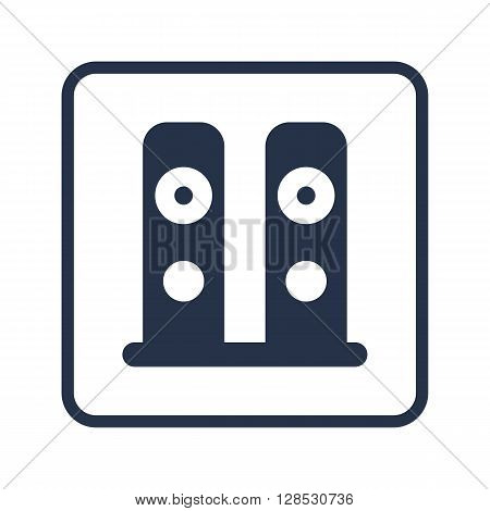 Speakers Icon In Vector Format. Premium Quality Speakers Symbol. Web Graphic Speakers Sign On Blue R