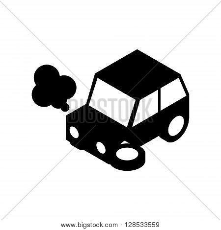 Car crash silhouette.Vector illustration. EPS 10. No transparency. No gradients.