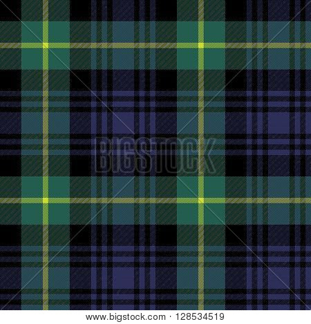 gordon tartan fabric texture plaid pattern seamless.Vector illustration. EPS 10. No transparency. No gradients.
