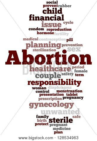 Abortion, Word Cloud Concept 10