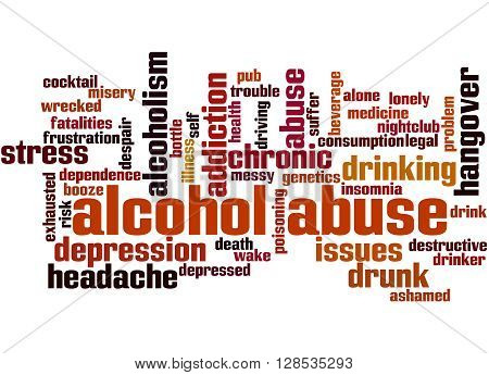 Alcohol Abuse, Word Cloud Concept 5