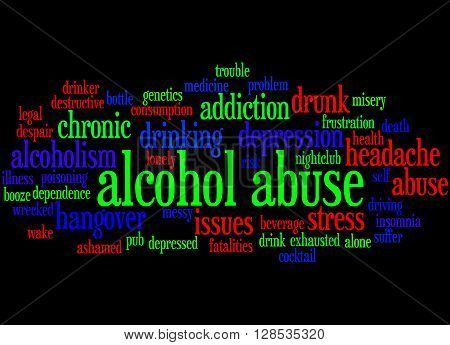 Alcohol Abuse, Word Cloud Concept 7