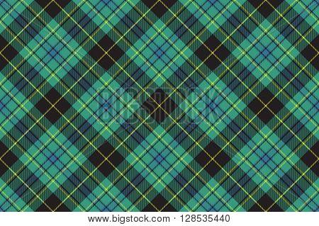 Ireland tartan kilt texture seamless diagonal pattern .Vector illustration. EPS 10. No transparency. No gradients.