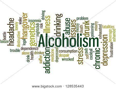 Alcoholism, Word Cloud Concept 2