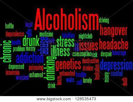 Alcoholism, Word Cloud Concept 4