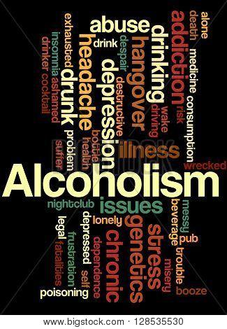Alcoholism, Word Cloud Concept 8