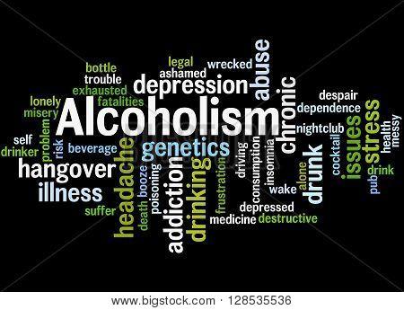 Alcoholism, Word Cloud Concept 9