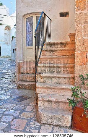 Alleyway of Polignano a mare. Puglia Italy.