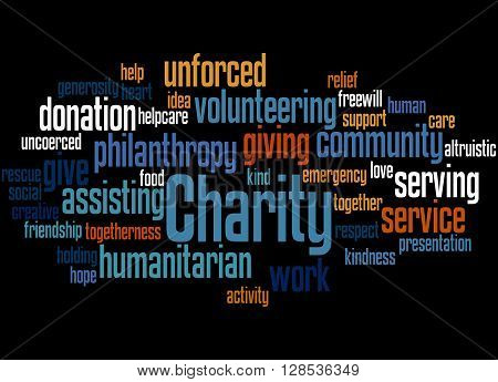Charity, Word Cloud Concept 12