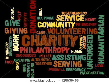 Charity, Word Cloud Concept 6