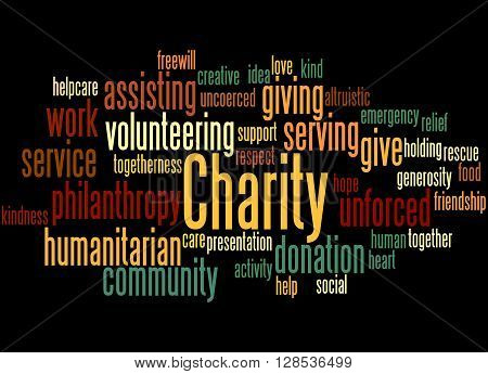 Charity, Word Cloud Concept 7