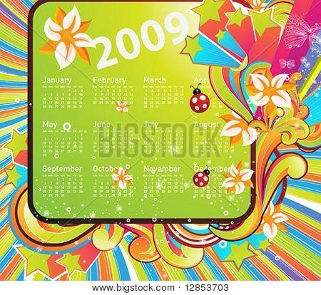 Calendario de vector para el diseño.