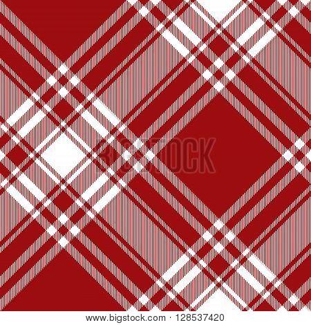 Menzies tartan red kilt diagonal fabric texture seamless pattern.Vector illustration. EPS 10. No transparency. No gradients.