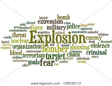 Explosion, Word Cloud Concept 7