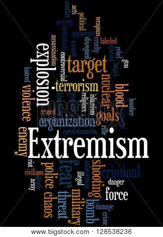 Extremism, Word Cloud Concept 8