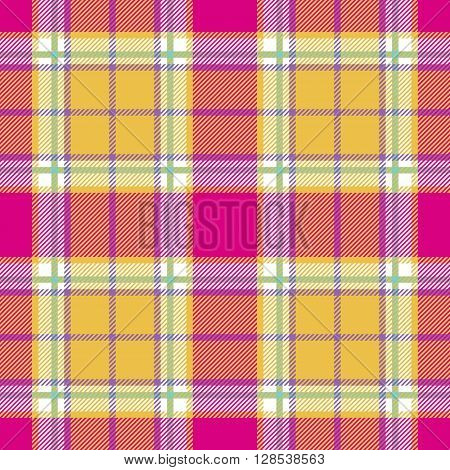 plaid indian madras fabric texture seamless pattern. Vector illustration. EPS 10. No transparency. No gradients.