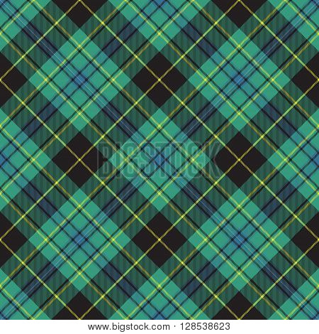 Pride of ireland tartan kilt texture seamless diagonal background .Vector illustration. EPS 10. No transparency. No gradients.