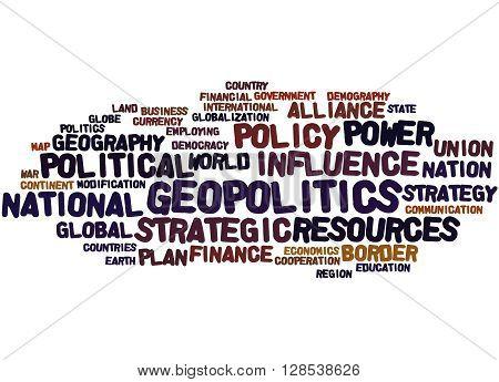 Geopolitics, Word Cloud Concept 2