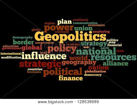 Geopolitics, Word Cloud Concept 6
