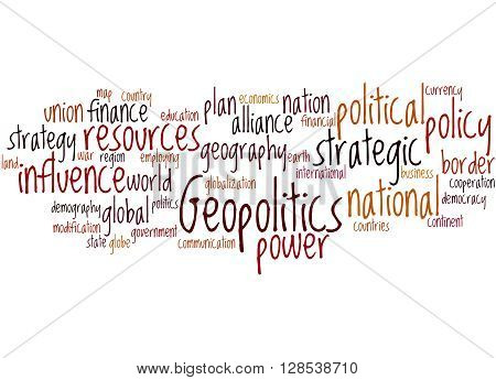 Geopolitics, Word Cloud Concept 7