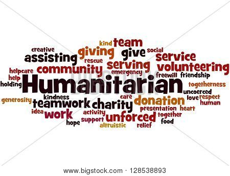 Humanitarian, Word Cloud Concept
