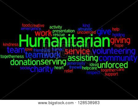 Humanitarian, Word Cloud Concept 5
