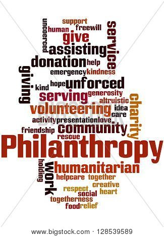 Philanthropy, Word Cloud Concept
