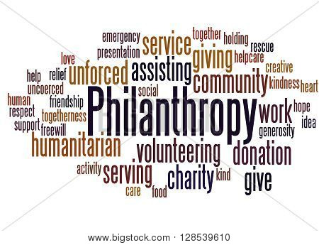 Philanthropy, Word Cloud Concept 2
