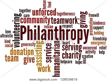 Philanthropy, Word Cloud Concept 3