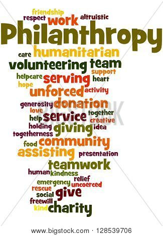 Philanthropy, Word Cloud Concept 9