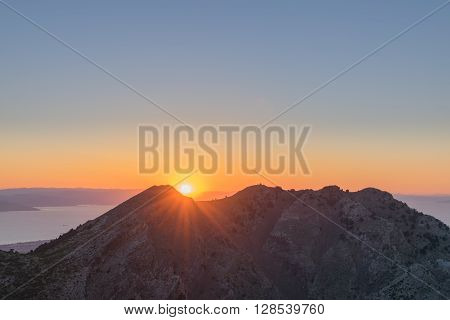 Sunrise over the Greek Island of Kos. ** Note: Visible grain at 100%, best at smaller sizes
