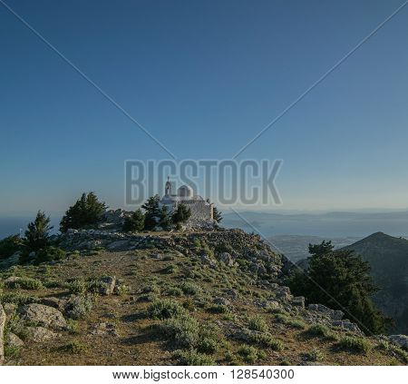 Chapel on the top of Mount Dikeos, Kos - Greece