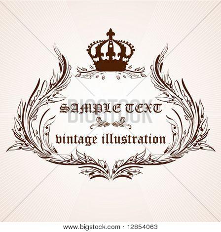 Vintage frame for design.
