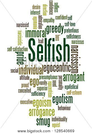Selfish, Word Cloud Concept 3