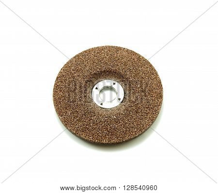 Grinding disc on a white background, tool