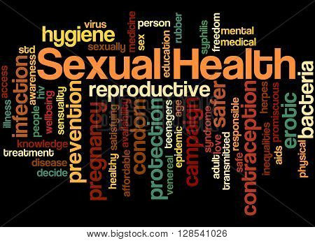 Sexual Health, Word Cloud Concept 10