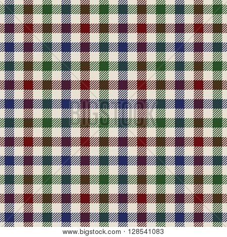 textured colored cloth in small squares seamless pattern. Vector illustration. EPS 10. No transparency. No gradients.