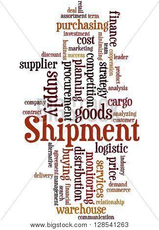 Shipment, Word Cloud Concept